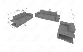 Canapé Design 3 places IMPERIAL avec éclairage LED (Blanc) EN STOCK NATIVO™ Möbel Schweiz
