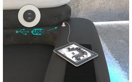 Designer Sofa EXODUS MINI mit LED Beleuchtung & USB Anschluss (Schwarz / Weiss) AB LAGER NATIVO™ Möbel Schweiz