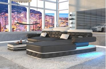 Divano di design EXODUS MINI con illuminazione a LED e presa USB (Nero / Bianco) IN STOCK NATIVO™ Möbel Schweiz