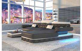 Designer Sofa EXODUS MINI mit LED Beleuchtung & USB Anschluss (Schwarz / Weiss) AB LAGER