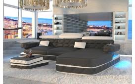 Canapé Design EXODUS MINI avec éclairage LED et port USB (Noir/ Blanc) EN STOCK NATIVO™ Möbel Schweiz