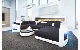 Canapé Design ATLANTIS XL avec éclairage LED (Noir/ Blanc) EN STOCK NATIVO™ Möbel Schweiz