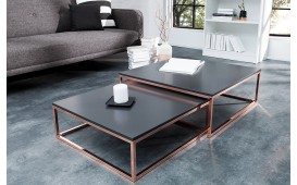 Table basse Design UNITY ANTHRACIT SET 2