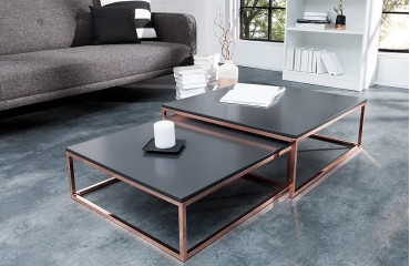Table basse Design UNITY ANTHRACIT SET 2 NATIVO™ Möbel Schweiz