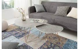 Table basse Design KNEE CONCRETE SET 2 NATIVO™ Möbel Schweiz