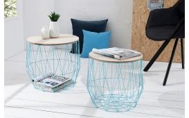 Table basse Design CAGE BLUE SET 2 NATIVO™ Möbel Schweiz