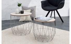 Table basse Design CAGE GREY SET 2 NATIVO™ Möbel Schweiz