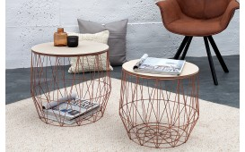 Tavolino di design CAGE COPPER SET 2 NATIVO™ Möbel Schweiz