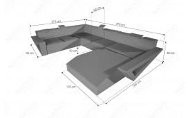 Designer Sofa FALCO XXL mit LED Beleuchtung & USB Anschluss (Lavander / Creme) AB LAGER NATIVO™ Möbel Schweiz