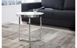 Tavolino d'appoggio di design RONDEL SILVER