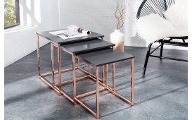 Table d'appoint Design UNITY COPPER SET 3