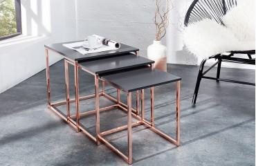 Designer Beistelltisch UNITY COPPER SET 3 NATIVO™ Möbel Schweiz