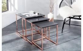 Tavolino d'appoggio di design UNITY COPPER SET 3