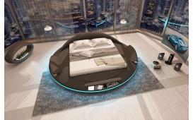 Lit tapissé MARS avec fonction, éclairage LED & port USB