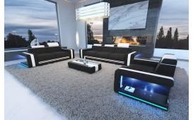 Designer Sofa IMPERIAL 3+2+1 mit LED Beleuchtung