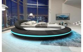 Designer Lederbett MARS mit Stauraum-Funktion inkl. LED Beleuchtung & USB Anschluss NATIVO™ Möbel Schweiz