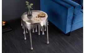 Tavolino d'appoggio di design LIQUOR SILVER 51 cm
