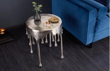 Designer Beistelltisch LIQUOR SILVER 51 cm NATIVO™ Möbel Schweiz