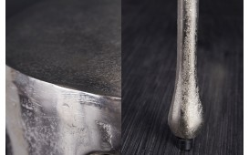 Table d'appoint Design LIQUOR SILVER 51 cm
