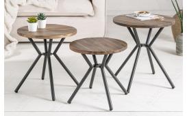 Tavolino d'appoggio di design FABRIK GREY SET 3