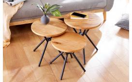 Tavolino d'appoggio di design FABRIK SET 3