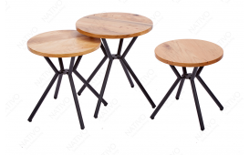 Tavolino d'appoggio di design FABRIK SET 3 NATIVO™ Möbel Schweiz