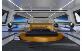 Designer Lederbett COCO mit LED Beleuchtung NATIVO™ Möbel Schweiz