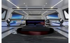 Designer Lederbett COCO V2 mit LED Beleuchtung NATIVO™ Möbel Schweiz
