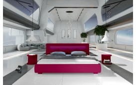 Lit tapissé MOON avec éclairage LED NATIVO™ Möbel Schweiz