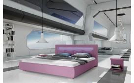 Designer Lederbett MOON mit LED Beleuchtung NATIVO™ Möbel Schweiz