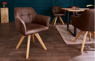 Designer Stuhl RIFLE BROWN ANTIK NATIVO™ Möbel Schweiz