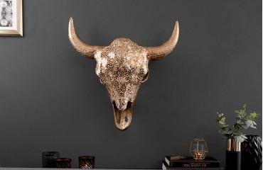 Designer Stierkopf TORRERO GOLD MOSAIC 56 cm NATIVO™ Möbel Schweiz