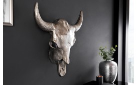 Designer Stierkopf TORRERO SILVER 56 cm NATIVO™ Möbel Schweiz