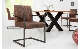 2 x Chaise Design VILLA VINTAGE BROWN