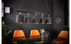 Designer Hängeleuchte LEVELTY BLACK-GOLD 100 cm