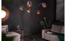 Lampadaire design LEVELTY BLACK-GOLD 202 cm