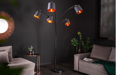 Lampadaire design LEVELTY BLACK-GOLD 202 cm NATIVO™ Möbel Schweiz