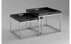 Tavolino d'appoggio di design UNITY I BLACK SET 2