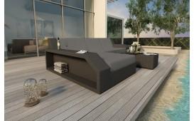 Designer Rattan Lounge Sofa MATIS MINI (Schwarz / Lilian 20) AB LAGER