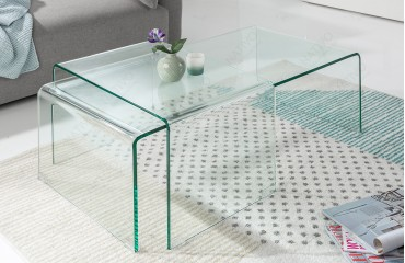 Tavolino di design CLEAR Set 2