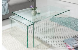 Tavolino di design CLEAR Set 2