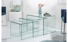 Tavolino di design CLEAR II Set 3