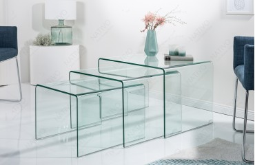 Table basse Design CLEAR II Set 3