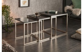Tavolino di design UNITY BLACK Set 3