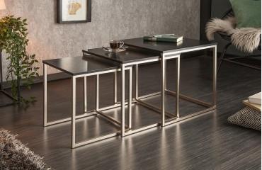 Designer Couchtisch UNITY BLACK 3 Set-NATIVO™ Möbel Schweiz