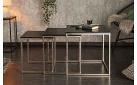 Table basse Design UNITY BLACK Set 3
