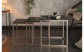 Tavolino di design UNITY BLACK Set 3