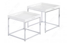 Table d'appoint Design UNITY I WHITE SET 2