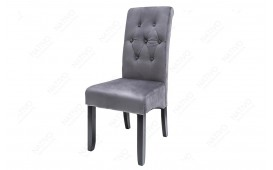 2 x Chaise Design ROSSI GREY BLACK