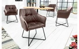 2 x Chaise design RIFLE BROWN